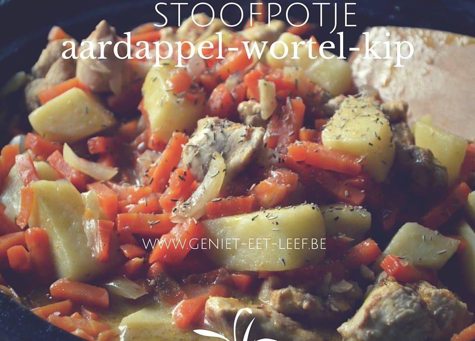 Stoofpotje van aardappel, kip en wortel